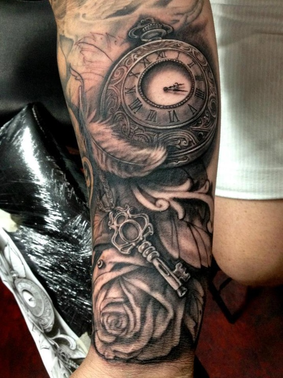 clock_steampunk_tattoo