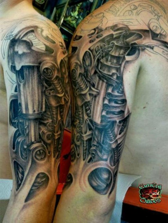 two_arms_steampunk_tattoo